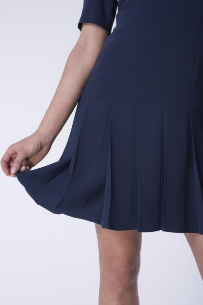 Krótka sukienka granatowy